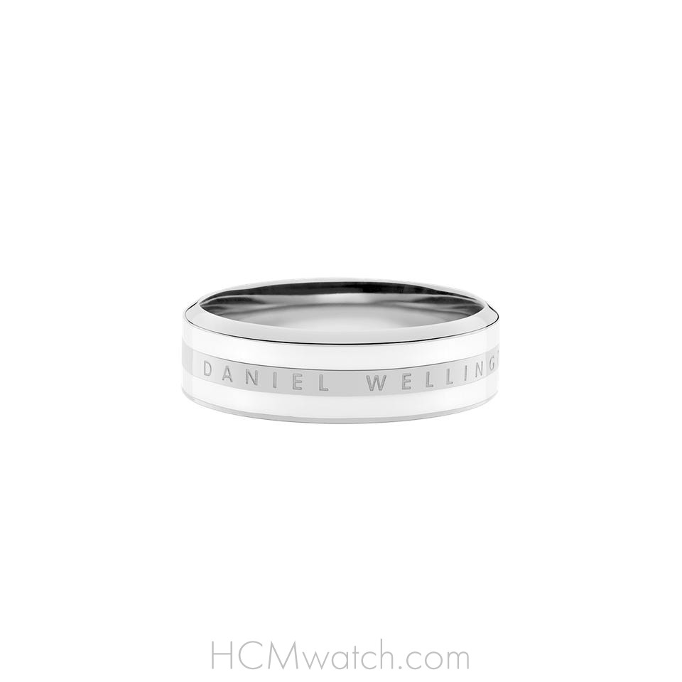 Nhẫn DW Ring Satin White - Silver