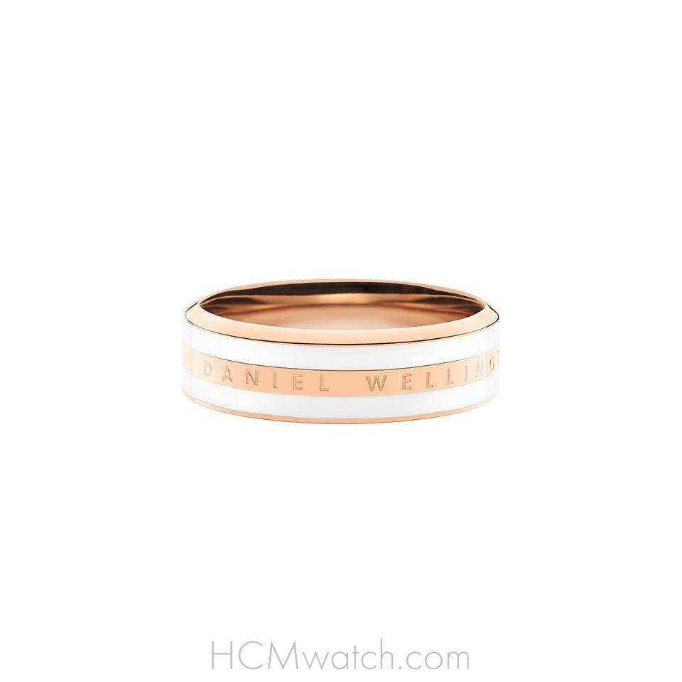 Nhẫn DW Ring Satin White - Rose Gold
